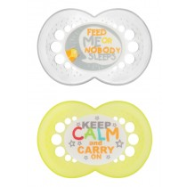 MAM Attitude Pacifier- Yellow and Gray