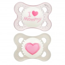 MAM Love & Affection - Orthodontic Pacifier, 0-6 Months, 2-Count