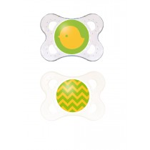 MAM Clear Pacifier - Yellow