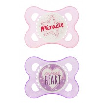 MAM Attitude Pacifier- 0-6 months-Pink and Purple