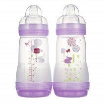 MAM Anti-Colic Bottle - 9 oz - Purple