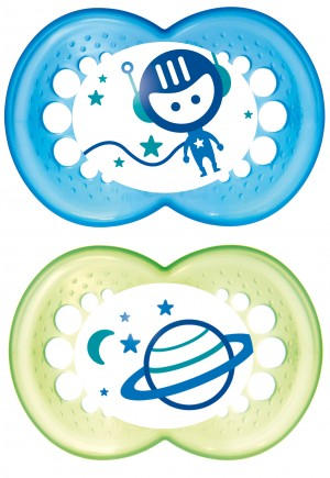 MAM Night Pacifier - Blue and Green