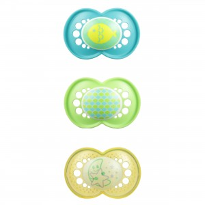 MAM Day and Night Pacifier- Blue, Green and Yellow